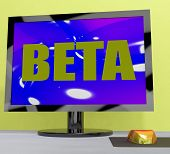 Beta On Monitor Shows Testing Software Or Development