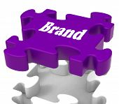 Brand Jigsaw Shows Business Trademark Or Product Label poster