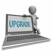 Upgrade Laptop Means Improve Upgrading Or Updating