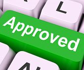 Approved Key Means Accepted Or Sanctioned.