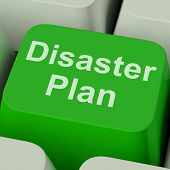 Disaster Plan Key Shows Emergency Crisis Protection