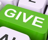 Give Key Means Bestow Or Giving.