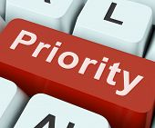 Priority Key Means Greater Importance Or Primacy