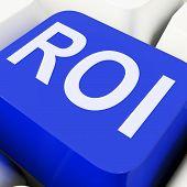 Roi Key Shows Return On Investment