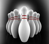 Bowling Pins Show Skittles Alley