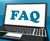 Faq On Laptop Shows Solution And Frequently Asked Questions Online