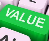 picture of significant  - Value Key On Keyboard Showing Worth Importance Or Significance - JPG
