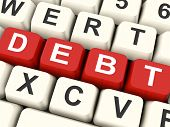 Debt Keys Mean Liability Or Financial Obligation.