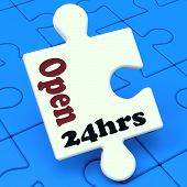 Open 24 Hours Puzzle Shows All Day 24Hr Service