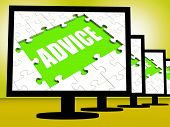 Advice Screen Means Suggestions Advise Recommend Or Suggest