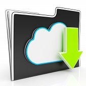 Download Arrow And Cloud File Shows Downloading