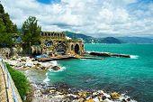 Ligurian coast at north of Italy