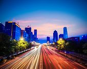 Beijing Central Business District In Nightfall