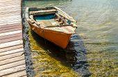 Old Orange Boat