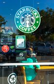 Sacramento, Usa - September 23:  Starbucks Store On September 23, 2013 In Sacramento, California.