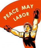 Workers (or Labor) Day celebration poster