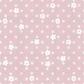 Geometric Pink Seamless Background With Fabric Texture