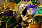 foto of jestering  - Close up of Mardi Gras jester - JPG