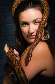 Woman And Snake