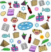 stock photo of seder  - Vector illustration pack of Passover symbols and icons - JPG