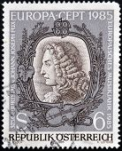 AUSTRIA - CIRCA 1985: Stamp printed in Austria shows Johann Joseph Fux circa 1985