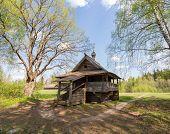 Vasilevo, near Torzhok. Museum of wooden architecture. Mikhail Arkhangel's chapel from Maksimovo's v