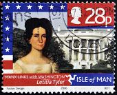 ISLE OF MAN - CIRCA 2006: Stamp printed in Isle of Man shows Letitia Tyler Manx Links
