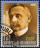 DJIBOUTI - CIRCA 2008: stamp printed in Djibouti shows Paul Henri Benjamin