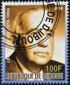 DJIBOUTI - CIRCA 2008: stamp printed in Djibouti shows Leon Jouhaux