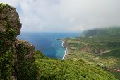 view over the coast of the Azores