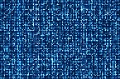 picture of spatial  - Blue seamless shimmer background with shiny silver and black paillettes - JPG