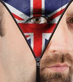 Unzipping Face To Flag Of England
