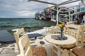 Cafe Of Little Venice In Mykonos