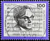 GERMANY - CIRCA 1992: stamp printed in Germany shows Hugo Distler composer circa 1992.