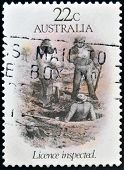 AUSTRALIA - CIRCA 1981: A stamp printed in Australia dedicated to the gold rush era