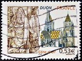 FRANCE - CIRCA 2006: A stamp printed in France dedicated to Dijon circa 2006