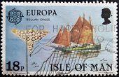 ISLE OF MAN - CIRCA 1981: A stamp printed in Isle of Man shows bollan cross circa 1981
