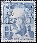 SWITZERLAND - CIRCA 1978: stamp printed in Switzerland shows Thomas Mann circa 1978