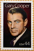 UNITED STATES OF AMERICA - CIRCA 2009: a stamp printed in USA showing an image of Gary Cooper