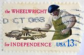USA - CIRCA 1977 : A stamp printed in USA shows the Wheelwright for independence circa 1977