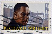UNITED STATES OF AMERICA - CIRCA 2009: A stamp printed in USA shows Richard Wright circa 2009