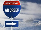 Ad creep road sign