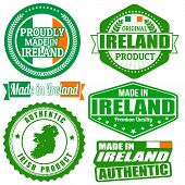 Made In Ireland Stamp And Labels