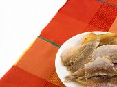 Dried Fishes On A Plate