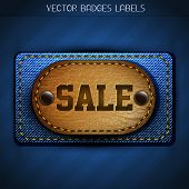 stylish jeans and leather sale label