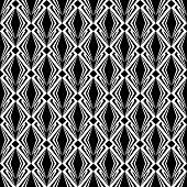 Design Seamless Monochrome Diamond Pattern. Abstract Geometric Textured Background
