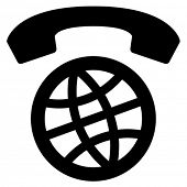 International calls worldwide vector icon