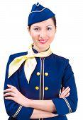 Beautiful smiling stewardess