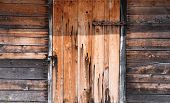 Wooden Wall And Doors Locked