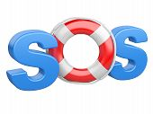 Sos Symbol With Lifebelt